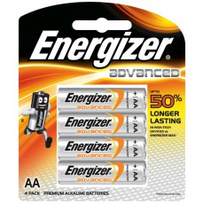 Energizer AA Advanced Premium Batteries 4 Pack